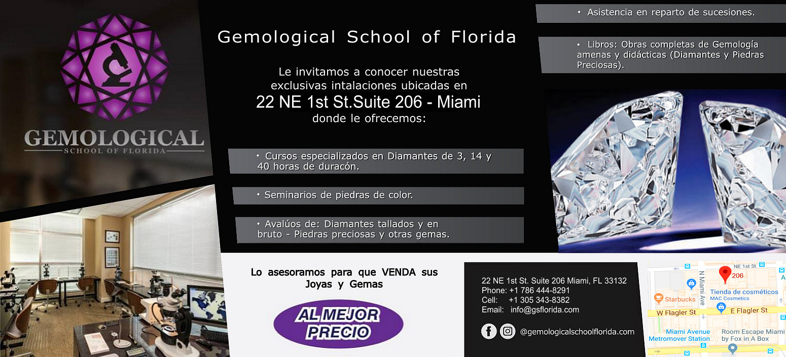 Asociados con el Gemological School of Florida